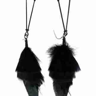 Bijoux de Nip Black Feather w/Black Tweezer Clamp