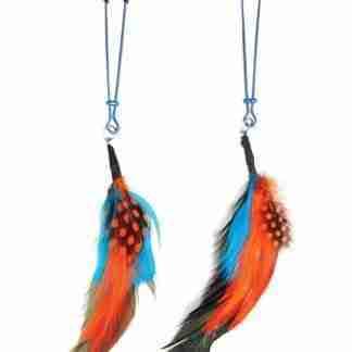 Bijoux de Nip Colored Feather w/Blue Tweezer Clamp