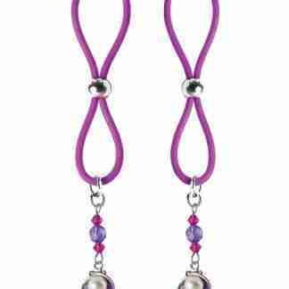 Bijoux de Nip Nipple Halos Clam Charm - Purple