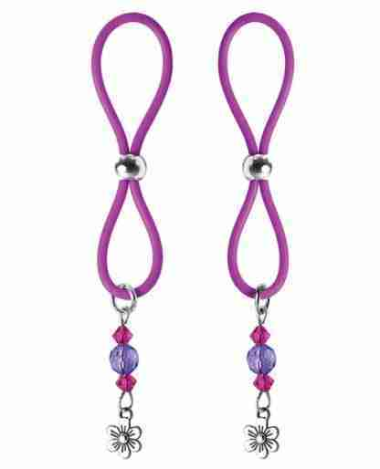 Bijoux de Nip Nipple Halos Flower Charm - Purple