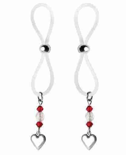 Bijoux de Nip Nipple Halos Heart Charm - Red/Clear