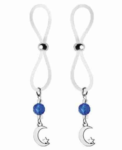 Bijoux de Nip Nipple Halos Moon & Star Charm - Blue/Clear