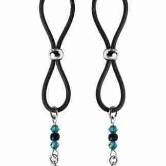 Bijoux de Nip Nipple Halos Star Charm - Turquoise/Black
