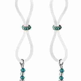 Bijoux de Nip Nipple Halos Turquoise Gem Slider - Turquoise/Clear