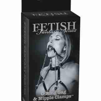 Fetish Fantasy Limited Edition O-Ring Gag & Nipple Clamps