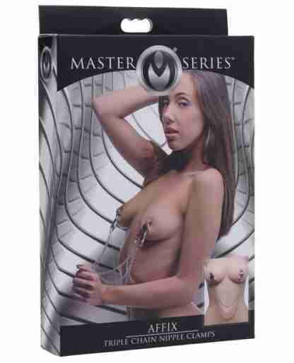 Master Series Affix Triple Chain Nipple Clamps