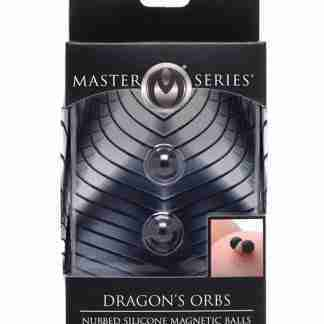 Master Series Dragon's Orbs Nubbed Silicone Magnetic Balls - Black