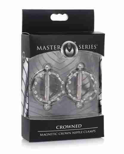 Master Series Crowned Magnetic Nipple Clamps - Silver